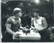 John Brzenk and Sylvester Stallone in Over the Top
